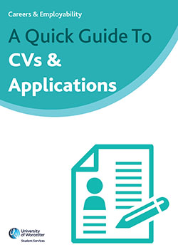 Cover of Quick Guide to CVs & Applications