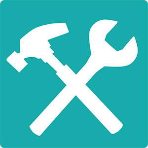 Icon of a hammer and wrench