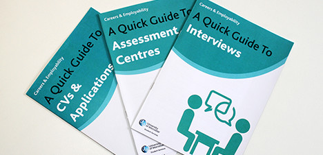 CVs, Applications & Interviews - picture of Careers Service Quick Guide resources