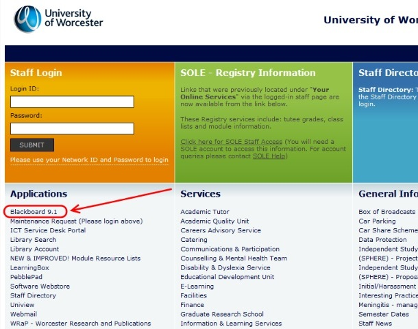 University of Worcester - - Purchasing Systems